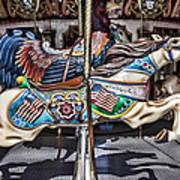 American Carousel Horse Art Print
