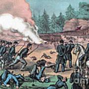 American Civil War, Battle Of Cold Art Print