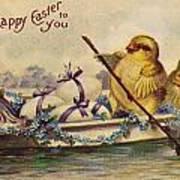 American Easter Card Art Print