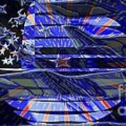 American Flag 3 Art Print