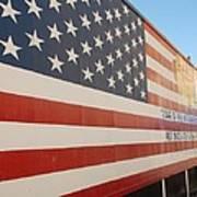 American Flag At Nathan's Art Print