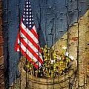 American Flag In Flower Pot - 2 Art Print