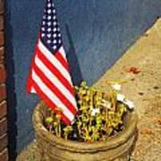 American Flag In Flower Pot - 3 Art Print