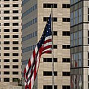 American Flag In The City Art Print