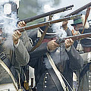 American Infantry Firing Art Print