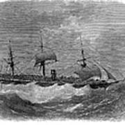 American Steamship, 1870 Art Print