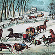 American Winter 1870 Art Print by Photo Researchers