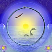 Amethyst Mandala Art Print