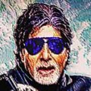 Amitabh Bachchan - God Of Bollywood Art Print