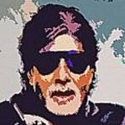 Amitabh Bachchan The Superstar Art Print