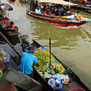 Ampawa Floating Market Art Print by Adrian Evans
