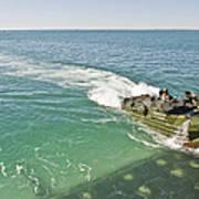 Amphibious Assault Vehicles Enter Art Print
