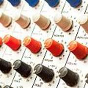 Amplifier Dials Art Print by Tom Gowanlock