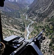 An Aerial Gunner Surveys Art Print