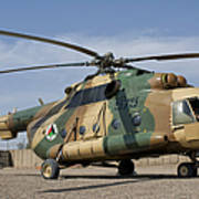 An Afghan Air Force Mi-17 Helicopter Art Print