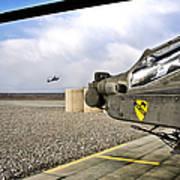An Ah-64d Apache Helicopter Art Print