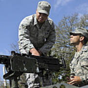 An Airman Instructs A Cadet On How Print by Stocktrek Images