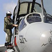 An Airman Makes A Final Look Over An Art Print