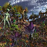 An Alien Being Surveys The Colorful Art Print by Mark Stevenson