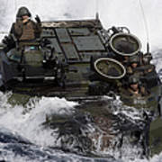 An Amphibious Assault Vehicle Art Print