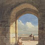 An Arch At Holy Island - Northumberland Art Print