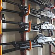An Armory Of Pk Machine Guns Designed Art Print