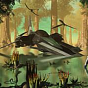 An Astronaut Wades Art Print