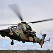 An Australian Army Tiger Helicopter Art Print