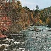 An Autumn Scene Along Little River Art Print