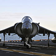 An Av-8b Harrier Maneuvers Art Print