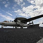 An E-2c Hawkeye Aircraft Prepares Art Print by Stocktrek Images