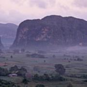 An Early Morning Landscape In Cubas Art Print