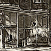An Economic Tale Sepia Art Print