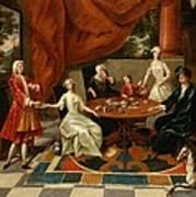 An Elegant Family Taking Tea  Print by Gavin Hamilton