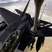 An F-15e Strike Eagle Aircraft Receives Art Print by Stocktrek Images