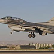 An  F-16b Of The Turkish Air Force Art Print
