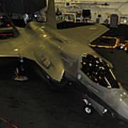 An F-35b Lightning II Is Secured Art Print