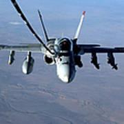 An Fa-18c Hornet Receives Fuel Art Print by Stocktrek Images
