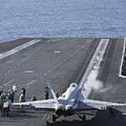 An Fa-18d Hornet Launches Art Print