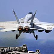 An Fa-18e Super Hornet Takes Art Print