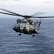 An Mh-53e Sea Dragon In Flight Art Print
