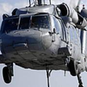 An Mh-60s Seahawk Delivers A Pallet Art Print
