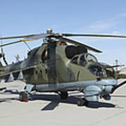 An Mi-24 Hind Helicopter Art Print