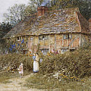 An Old Surrey Cottage Art Print