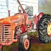 An Old Tractor Art Print