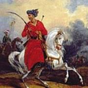 An Ottoman On Horseback Art Print