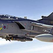 An Raf Tornado Gr-4 Takes On Fuel Art Print by Stocktrek Images