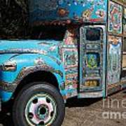 Anandapur Blue Bus Animal Kingdom Walt Disney World Prints Art Print
