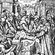 Anatomy Dissection, 16th Century Art Print