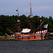 Anchored Ship Art Print